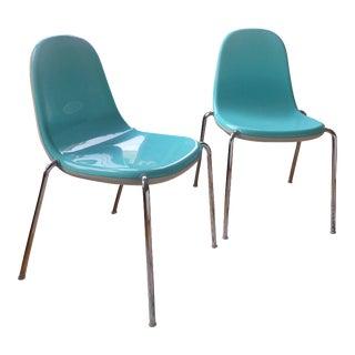 Magis Karim Rashid Turquoise Butterfly Chairs - A Pair
