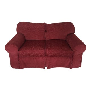 Red Ethan Allen Loveseat Sofa