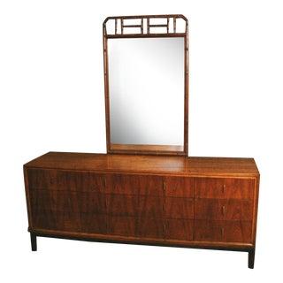 Vintage Henredon Dresser & Mirror