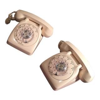 Retro Rotary Dial Telephones - A Pair