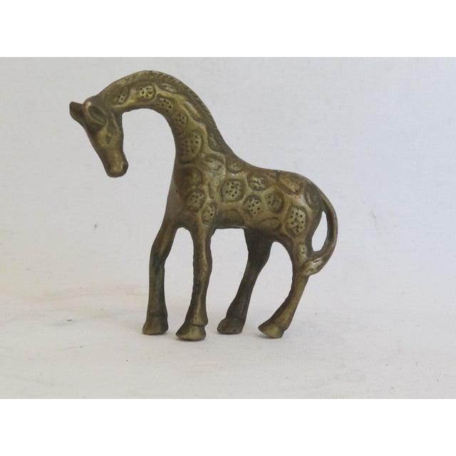 Petite Brass Giraffe - Image 2 of 5