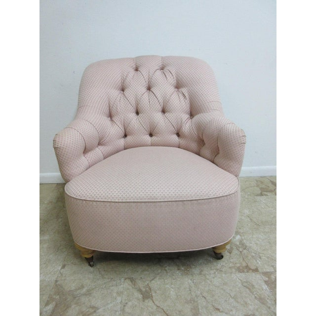 Ethan Allen Chesterfield Lounge Chair - Image 2 of 10