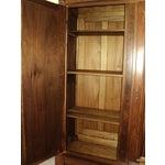 Image of Antique Walnut 2 Door Wardrobe/Armoire