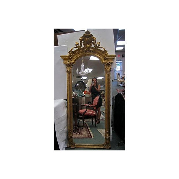 19th C. Gold Gilt Pier Mirror - Image 2 of 7