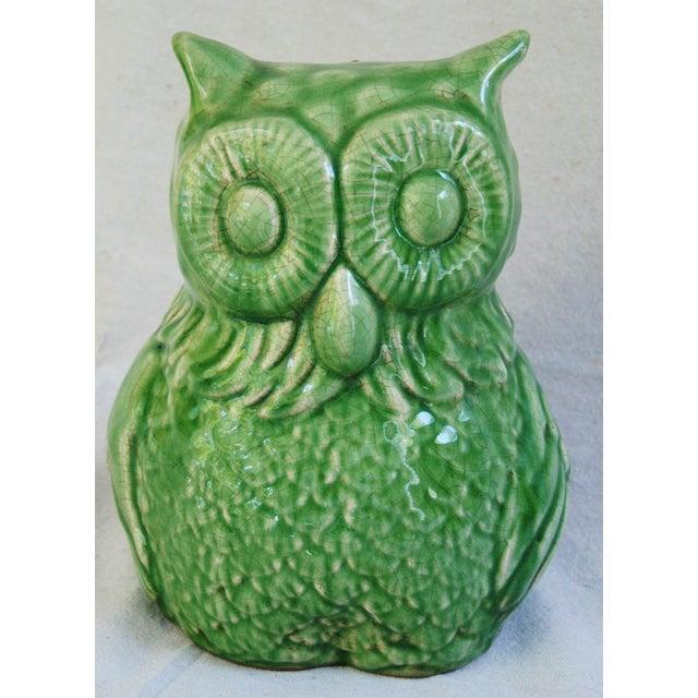 Mid-Century Italian Green Terracotta Owl - Image 6 of 9