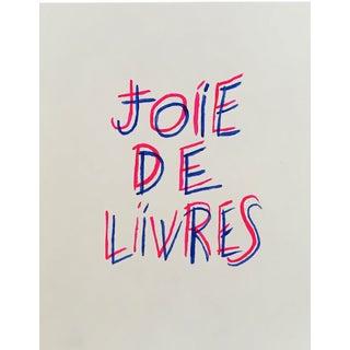 """Joie De Livres"" Modern Print"