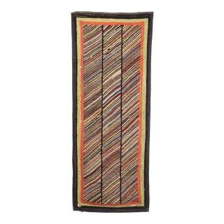 """Antique Multicolor Hook Rug - 2' X 5'1"""""""