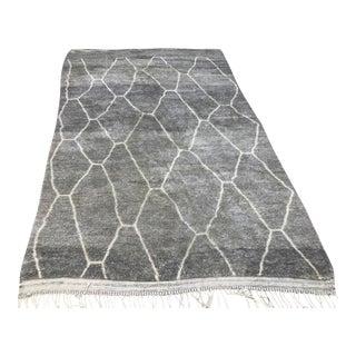 Moroccan Handmade Gray Rug