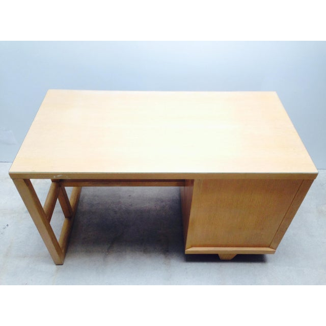 Mid Century Desk in Blonde Oak Finish - Image 6 of 7
