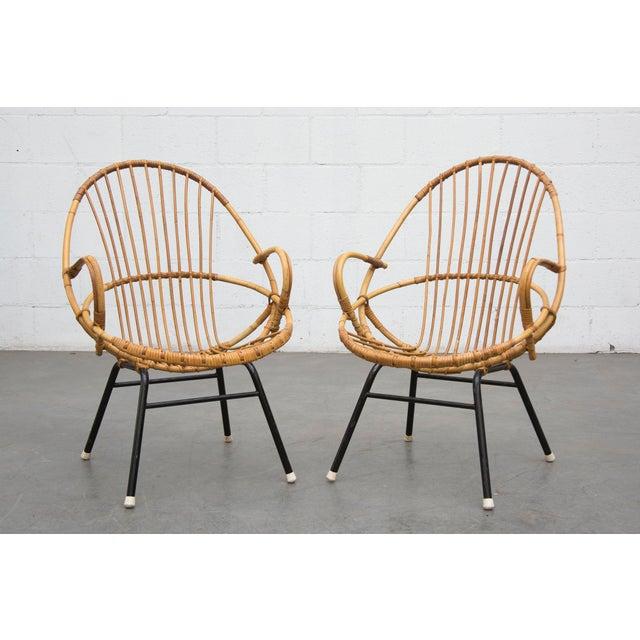 Rohe Noordwolde Bamboo Hoop Chairs - Pair - Image 8 of 8