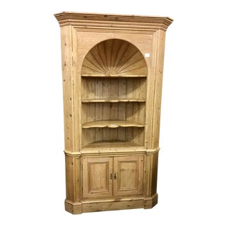 Huge Antique English Pine Corner Cabinet