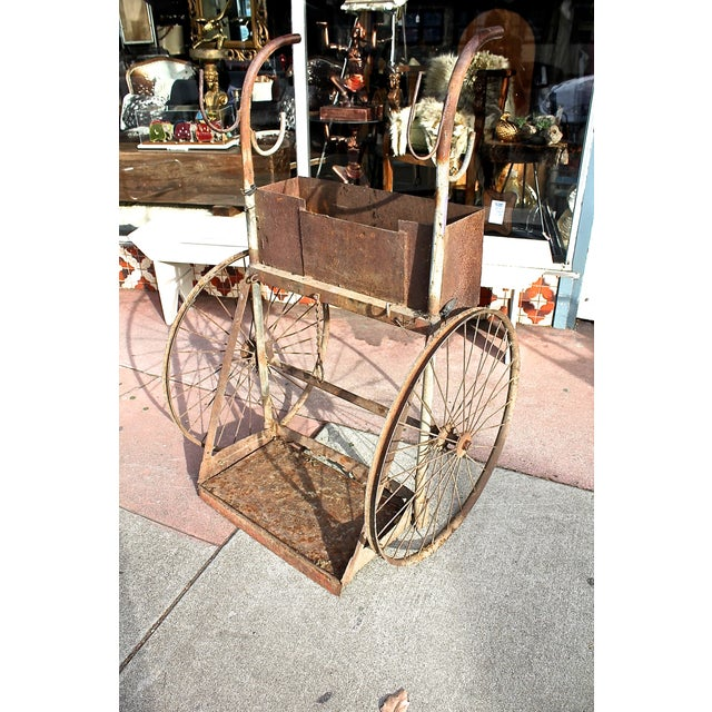 1930s Rusty Iron Welded Bar Cart - Image 3 of 7