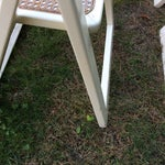 Image of Italian White Lacquer Folding Chairs - Set of 4