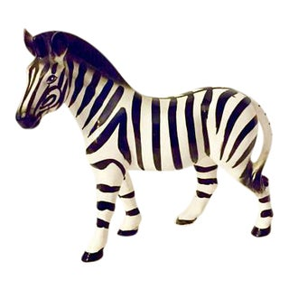 Hollywood Regency Ceramic Zebra Figurine