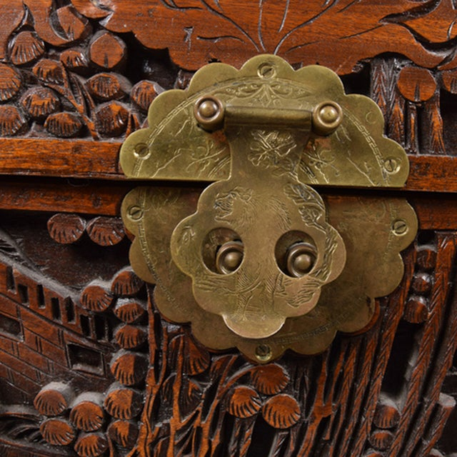 Image of Vintage Chinese Carved Chest