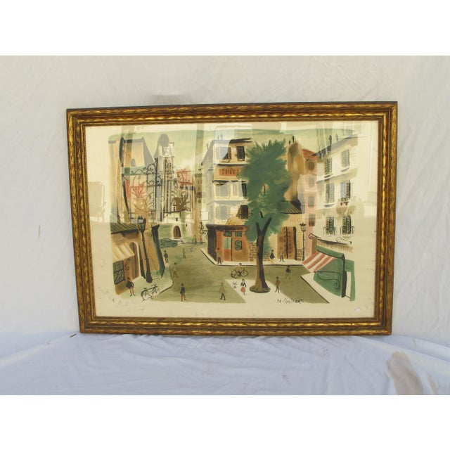Antique Lithograph of Village Scene - Image 2 of 6