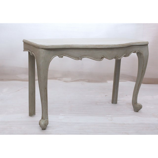 Image of Juliette Console Table in Oyster Gray