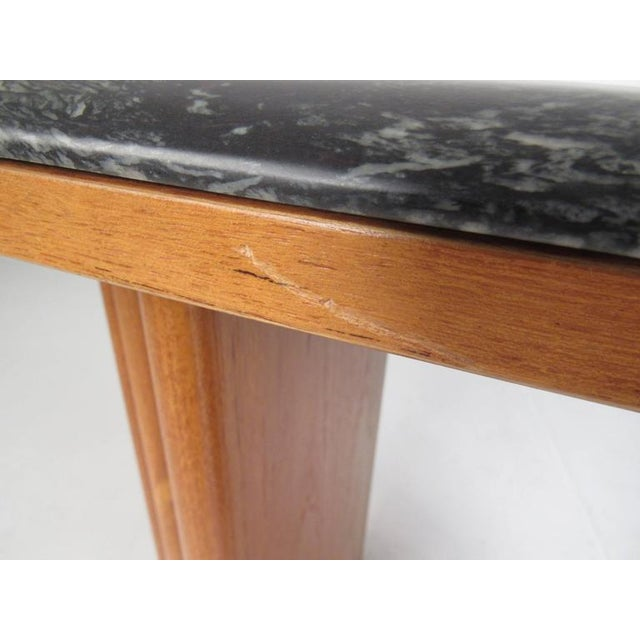 Mid-Century Teak and Marble Console Table by Bendixen Design - Image 10 of 11