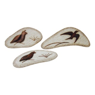 Danish Modern 1980s Bird Wall Accents - Set of 3