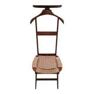 On Hold Mid-Century Modern Danish Rope Valet Butler Chair