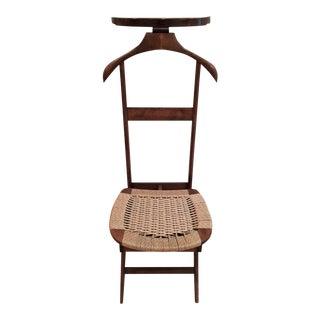 Mid-Century Modern Danish Rope Valet Butler Chair