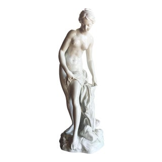 19th C. Falconet Porcelain 'Bather' Sculpture