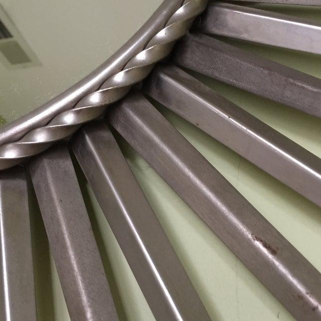 Silver Metal Starburst Mirror - Image 7 of 7