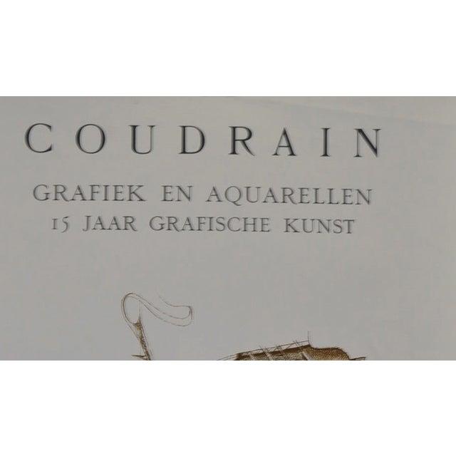 Brigitte Coudrain Vintage Exhibit Lithograph - Image 2 of 3