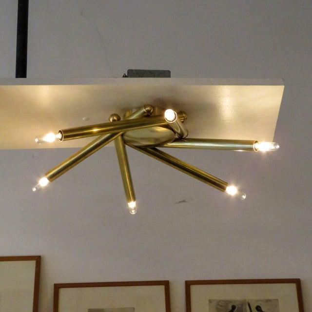 Spiral Six-Arm Brass Flush Mount - Image 8 of 10