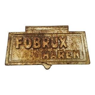 Antique Haren Brussels Cast Iron Letter Box Lid