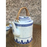 Image of Blue and White Chinoiserie Teapot & Cups