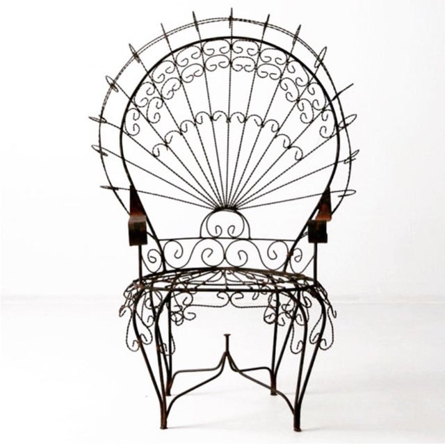 Vintage 1960s Twisted Iron Peacock Chairs - A Pair - Image 2 of 3