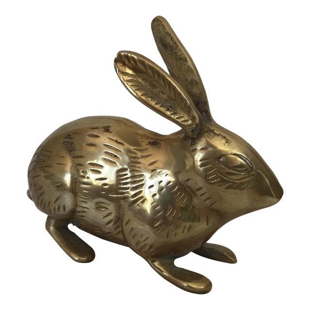 Image of Vintage Brass Bunny Rabbit