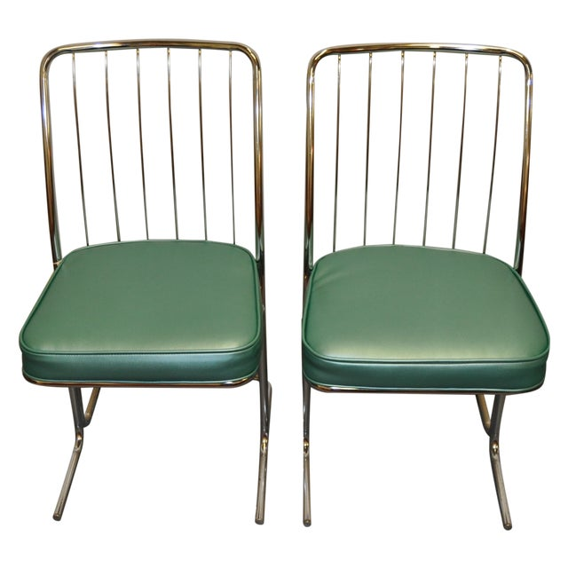 Chrome Kitchen Chairs: 1950s Chrome & Vinyl Kitchen Chairs - Set Of Four
