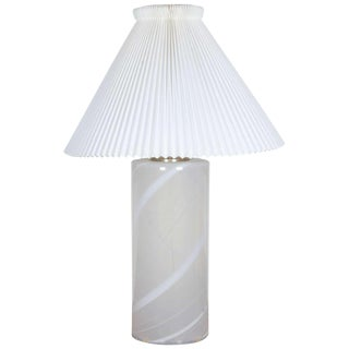 Danish Blown Glass Table Lamp