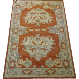 Turkish Oushak Rug 2-5x3-10