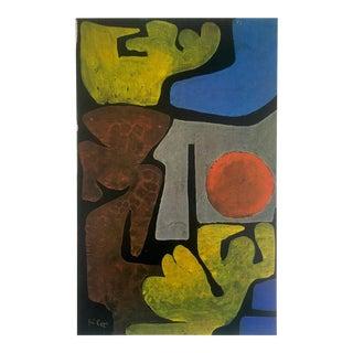 "Paul Klee Vintage 1967 Original Abstract Lithograph Print ""Park of Idols"", 1938"