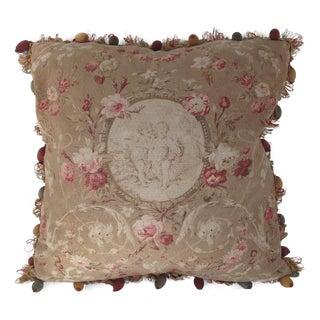 Vintage Flowers, Cherub & Child Pillow