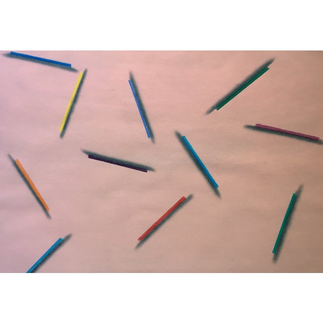 "Modernist Abstract Pastel ""Color Pencils"" - Image 3 of 7"