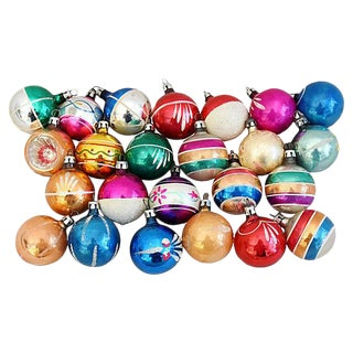 Petite Christmas Ornaments w/Box - Set of 24