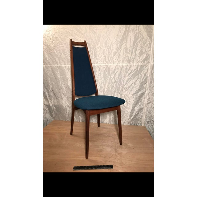 Mid-Century Blue Dining Chair - Image 2 of 6
