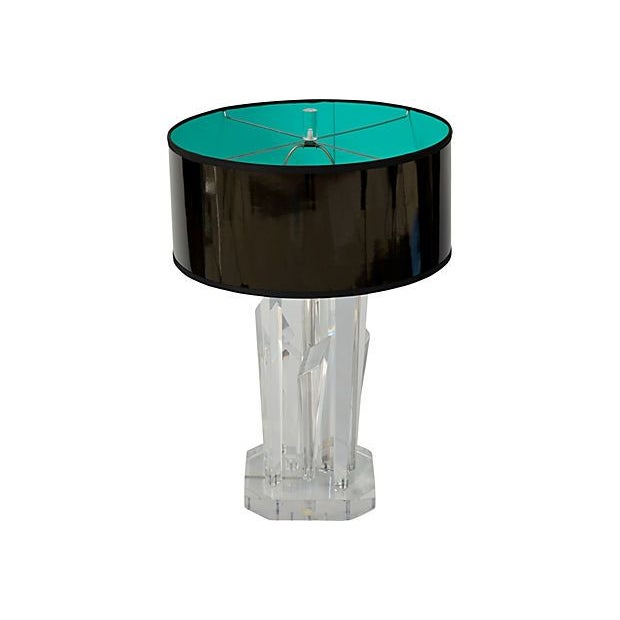 Lucite Icicle Lamp - Image 1 of 2