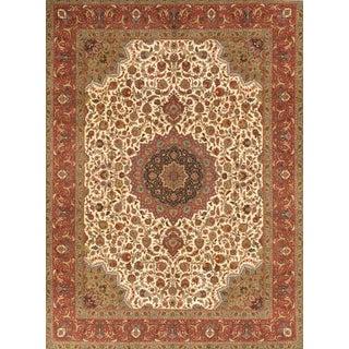"""Pasargad Tabriz Silk & Wool Area Rug- 9'10"""" X 13' 8"""""""