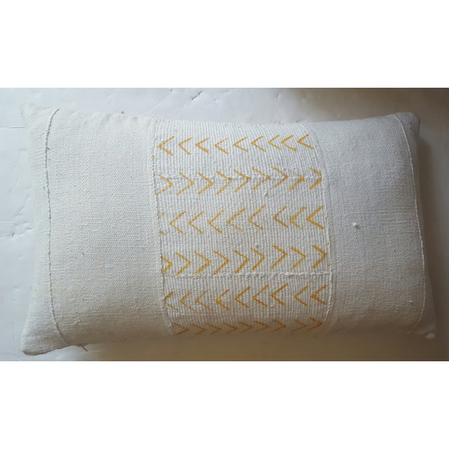 Image of African Gold & Cream Mud Cloth Pillow