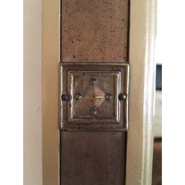 Mid-Century Modern Gilded Wood & Brass Wall Mirrors - A Pair - Image 6 of 6