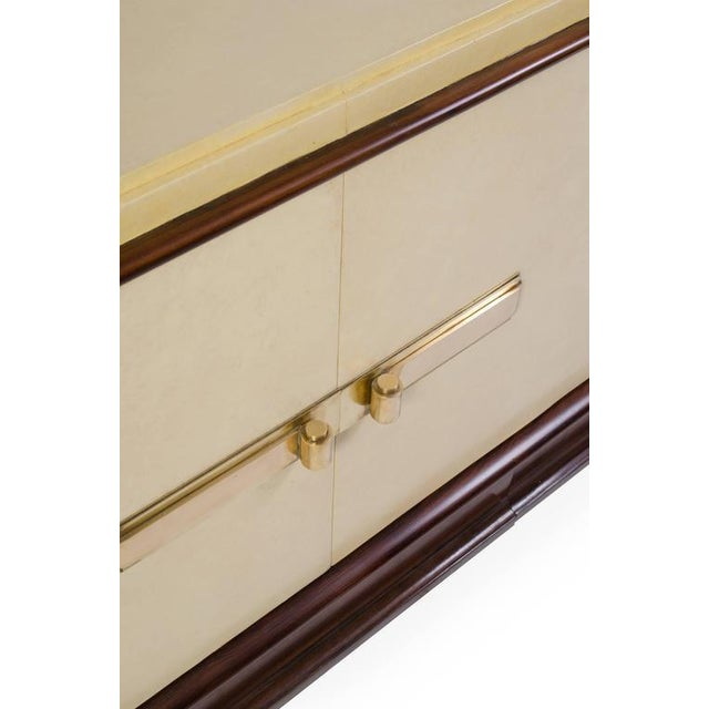 Art-Deco Vellum & Mahogany Sideboard Attributed to Paul Dupré-Lafon - Image 5 of 7