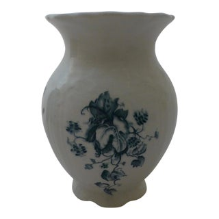 Antique J & E Mayer Blue Floral Motif Vase