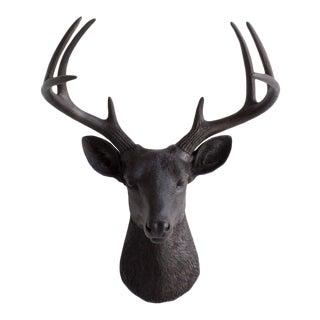 Black Faux Deer Head Wall Bust