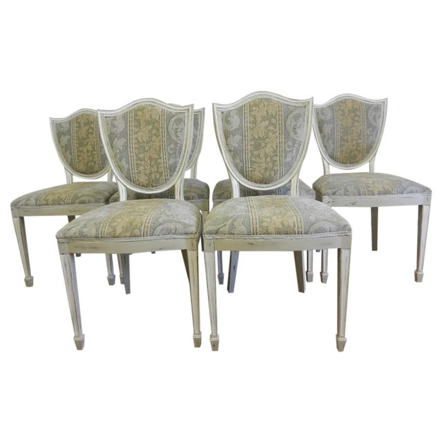 Shield Back Dining Chairs - Set of 6 - Image 1 of 8