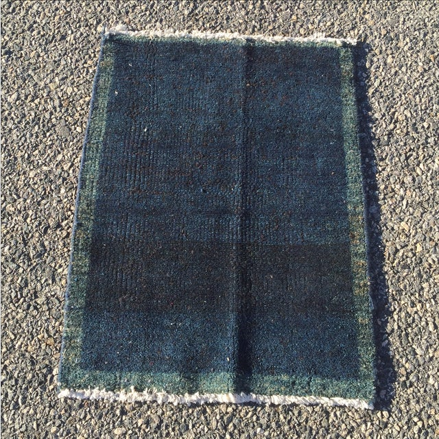 "Navy Vintage Turkish Rug - 1'11"" X 2'6"" - Image 2 of 7"